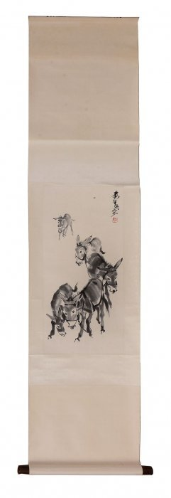 A Japanese Kakejiku Painted In Inks And Colour On Silk