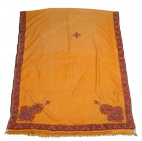 An Embroidered Shawl, Probably Kashmir , Late