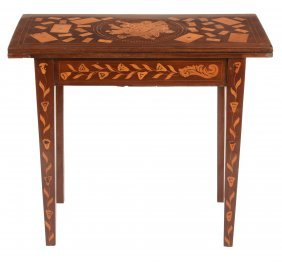 A Dutch Inlaid Games Table , Circa 1810, The Swivel Top
