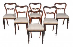 A Set Of Six William Iv Rosewood Dining Chairs , Circa
