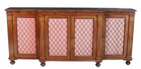A Mahogany Break-front Side Cabinet , Circa 1815 And