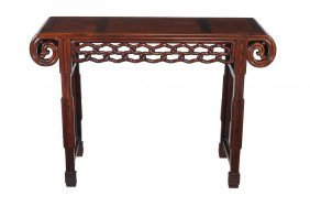 A Chinese Hardwood Altar Table , Late 19th/early 20th