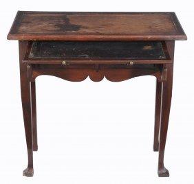 A George Iii Mahogany Writing Table, Circa 1760