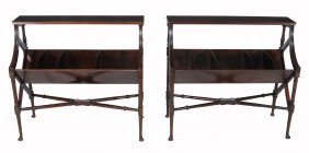 A Pair Of Mahogany Book Stands In George Iii Style