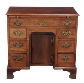 A George Iii Mahogany Kneehole Desk, Circa 1780