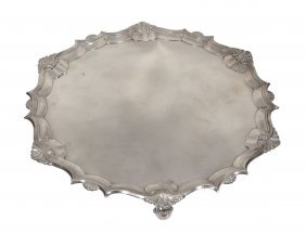 A Late George Ii Silver Shaped Circular Salver By James