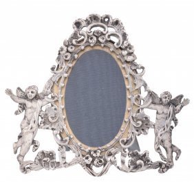 A Late Victorian Silver Mounted Small Photograph Frame