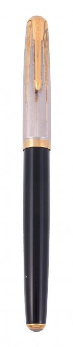 Parker, A Black Fountain Pen, The Cap With Reeded