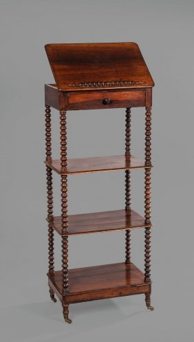 A William Iv Rosewood Four-tier Music Stand-whatnot ,