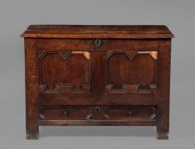 An Oak Mule Chest , Late 17th/early 18th Century