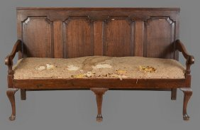 A George Iii Provincial Oak Settle , Circa 1780