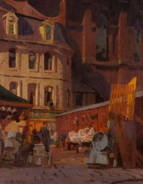 Walter Bayes (1869-1956) - The Upper Town, Boulogne,