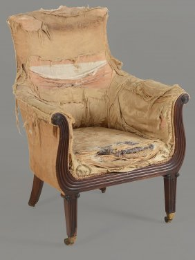 A Late Regency Mahogany Library Chair , Circa 1820, In