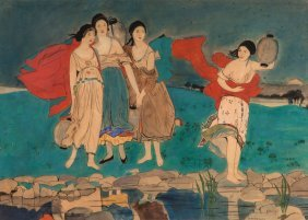 Dorothy Webster Hawksley (1884-1970) - Lighting The Way