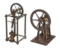 A Late Victorian model of an over-crank steam engine