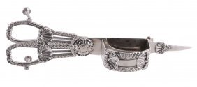 A Pair Of George Iv Silver Candlesnuffers By Rebecca