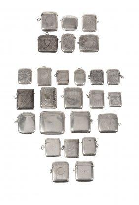 A Collection Of Twenty Five Silver Vesta Cases, Various