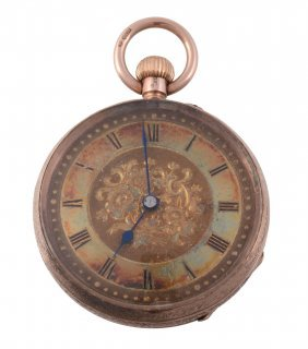 A 9 Carat Gold Swiss Keyless Wind Fob Watch, Circa 1907