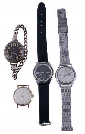 Baume, A 9 Carat Gold Wristwatch Head, No