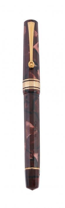 Omas, Dama, A Burgundy Marbled Fountain Pen, Boxed And