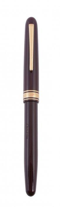 Omas, Ogiva, Dama, A Burgundy Fountain Pen, With Gold
