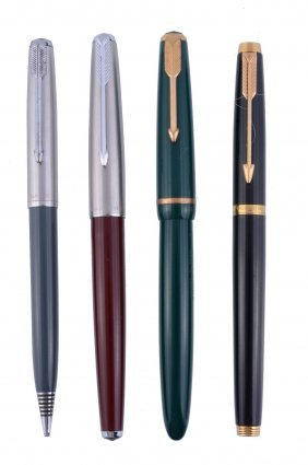 Parker, Duofold, A Green Fountain Pen, With An Engraved