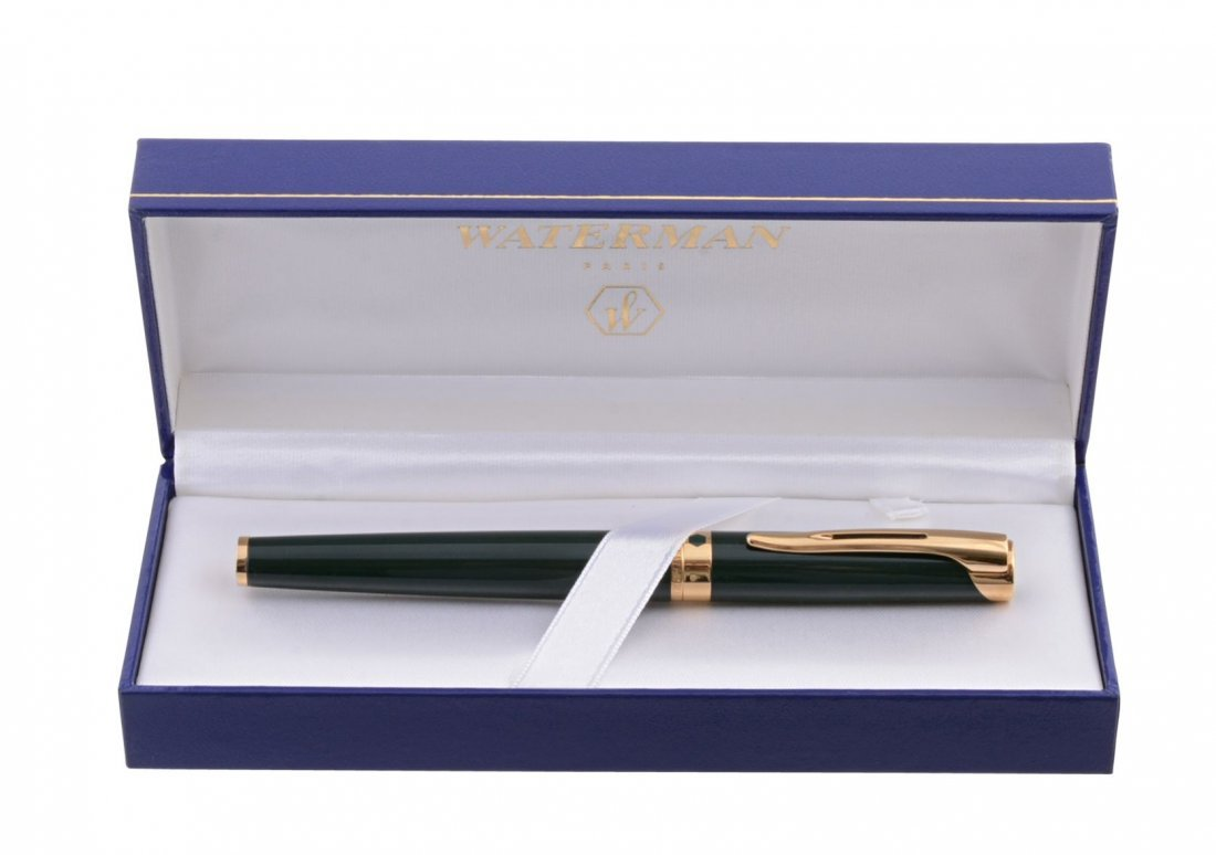 Waterman, L'Etalon, a green lacquer fountain pen - 3