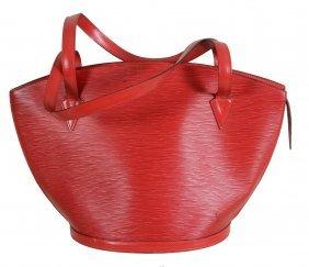 Louis Vuitton, Paris, A Saint Jacques Red Epi Leather