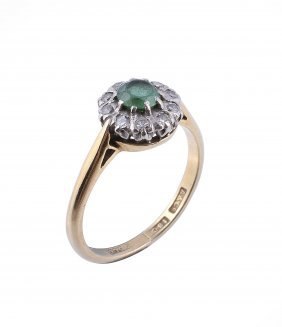 A Green Tourmaline And Diamond Ring, The Central