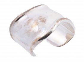 A Silver 'bone' Cuff Bracelet By Elsa Peretti For