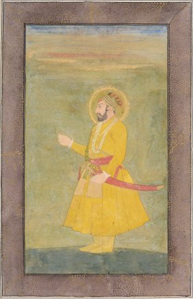 A Mughal Portrait Of A Ruler, Northern India, 18th