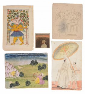 A Miscellaneous Group Of Eleven Indian Paintings,
