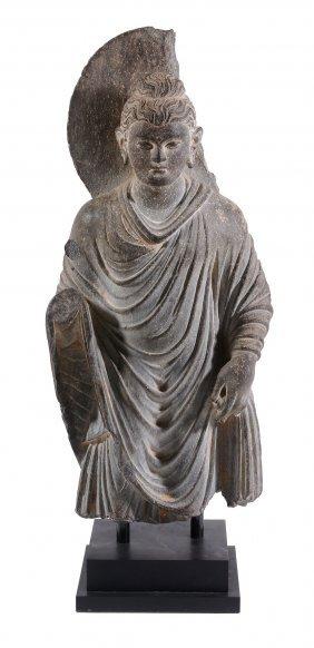 A Grey Schist Figure Of Buddha Shakyamuni, Gandhara
