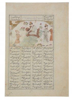 Three Persian Of Indian Illustrated Folios, 18th