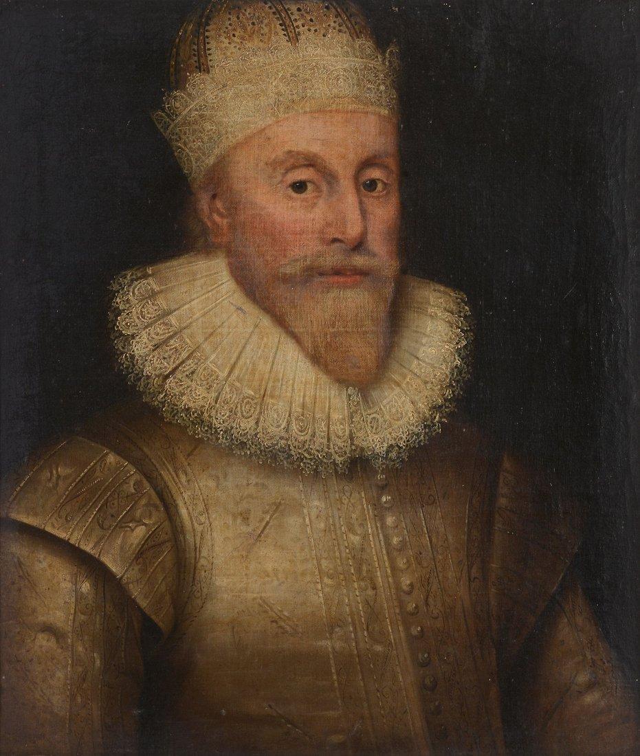 English School (17th century) - Portrait of a gentleman
