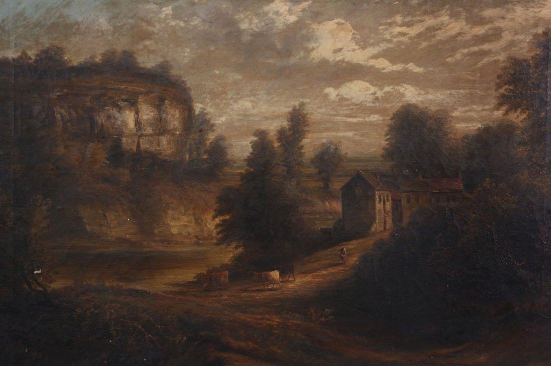 Attributed to Joseph Mellor (fl. 1850) - Landscape with