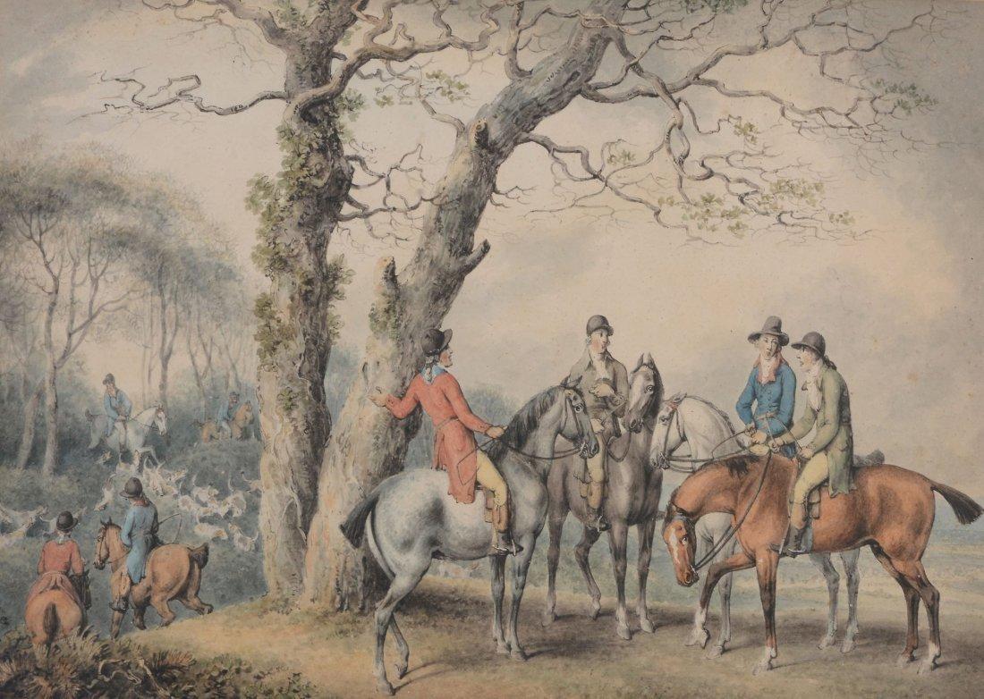 William Samuel Howitt (c.1765-1822) - At the hunt