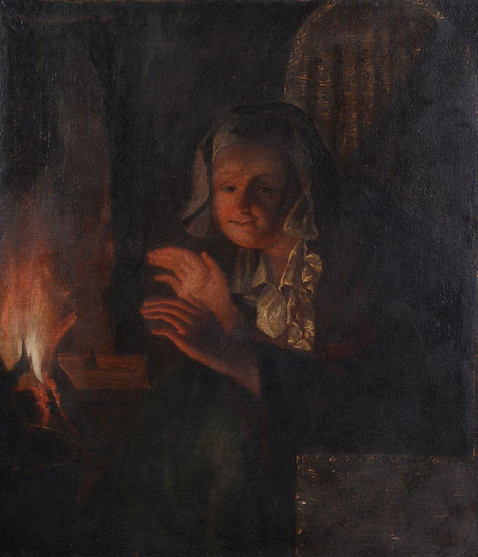 Follower of Godfried Schalcken (1643-1706) - Portrait