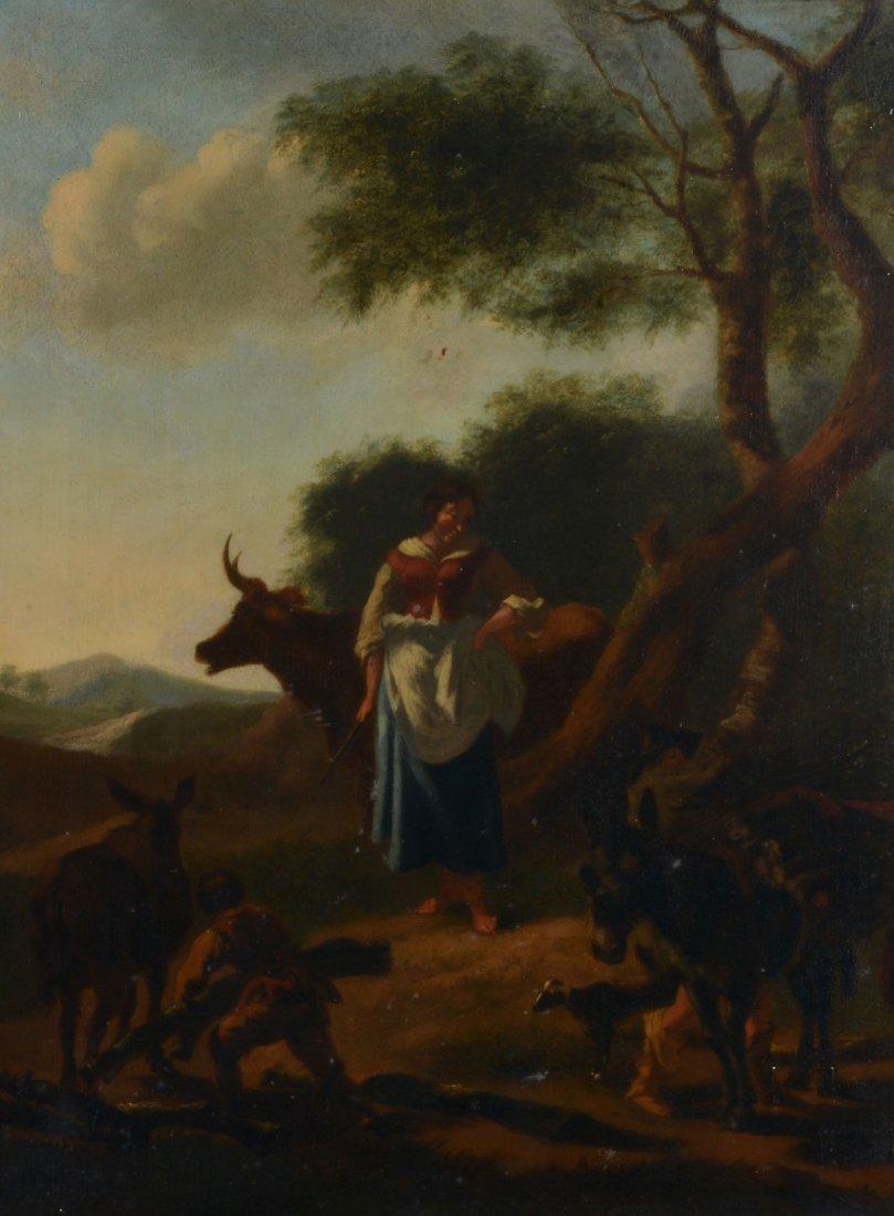Manner of Karel du Jardin (1626-1678) - Shepherd and