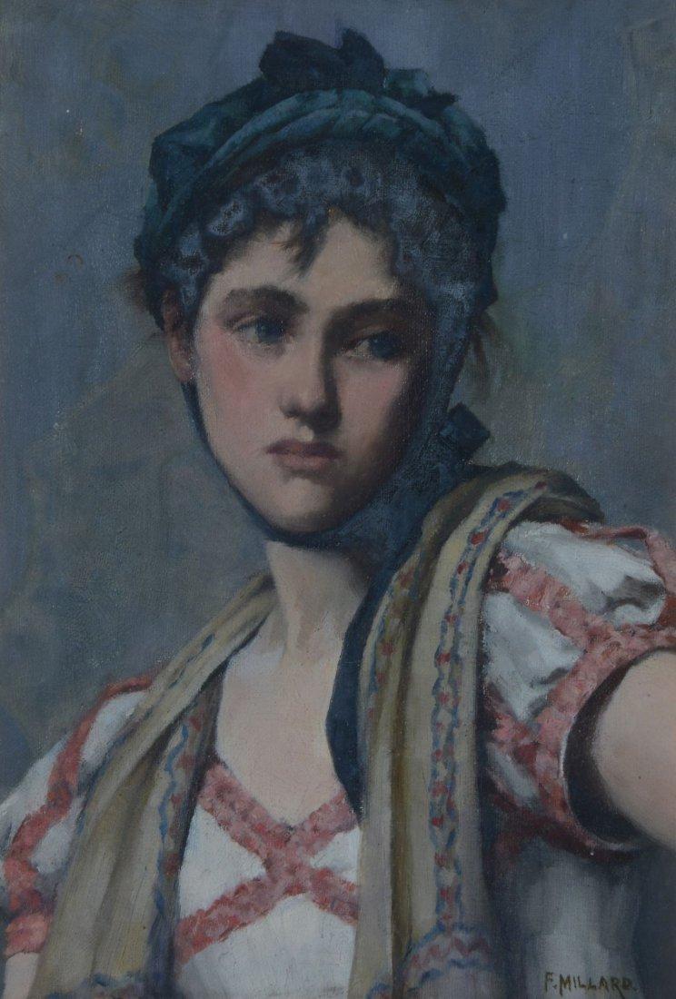 Frederick Millard (1857-1937) - Portrait of a maiden