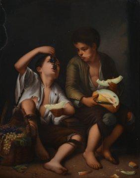 After Bartolome Esteban Murillo - The Melon Eaters
