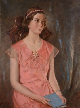 Norman Hirst (1862-1956) - Portrait Of 'betty'