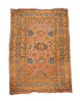An Ushak Hall Carpet, Approximately 262 X 150cm