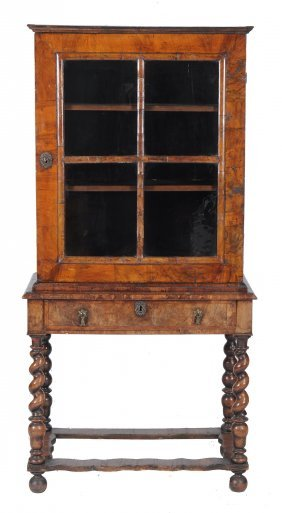 A Walnut Cabinet On Stand, Circa 1700 And Later, 175cm