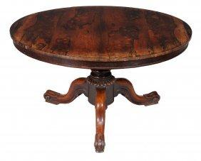 A Victorian Rosewood Circular Centre Table , Circa 1860