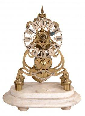 A Victorian Brass Skeleton Timepiece Joseph Sewiil,