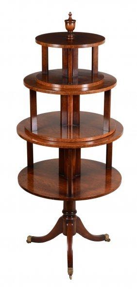 A Fiddleback Mahogany Pedestal Bookcase, In Regency