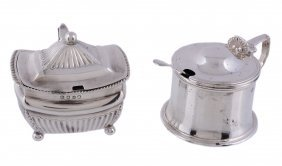 A George Iii Silver Oblong Baluster Mustard Pot, No