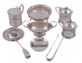 A Collection Of Small Silver And Silver Coloured Items,