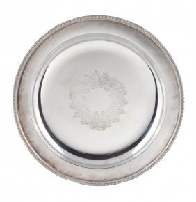 An Electro-plated Serving Plate, With A Nulled Border